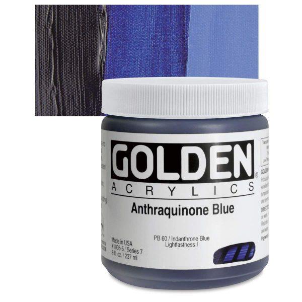 Golden Heavy Body Acrylic Paints 236ML Anthraquinone Blue