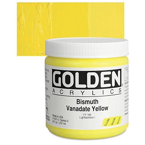 Golden Heavy Body Acrylic Paints 236ML Bismuth Vanadate Yellow