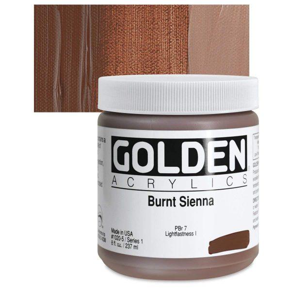 Golden Heavy Body Acrylic Paints 236ML Burnt Sienna
