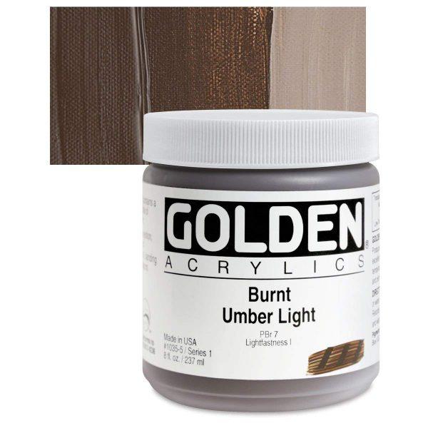 Golden Heavy Body Acrylic Paints 236ML Burnt Umber Light
