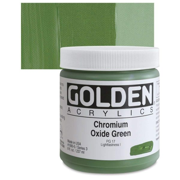 Golden Heavy Body Acrylic Paints 236ML Chromium Oxide Green