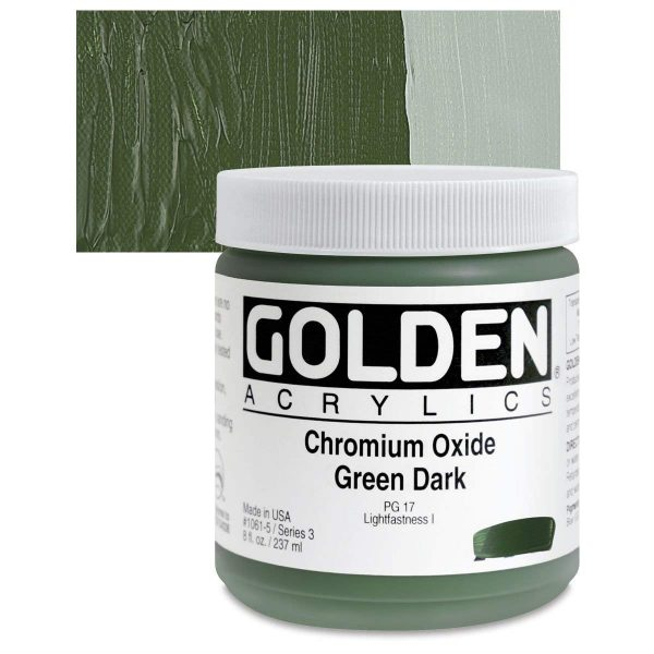 Golden Heavy Body Acrylic Paints 236ML Chromium Oxide Green Dark