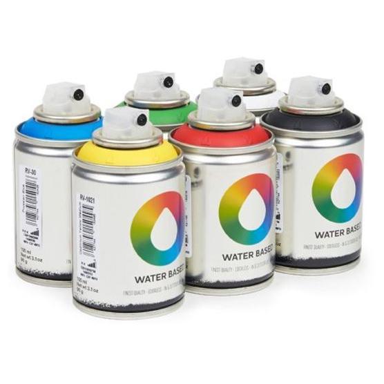 MTN Spain Water Based Spray Paints 100ML - Workshop Pack of 6