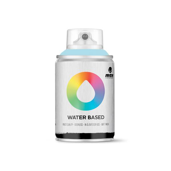 MTN Spain Water Based Spray Paints 100ML - Phthalo Blue Light
