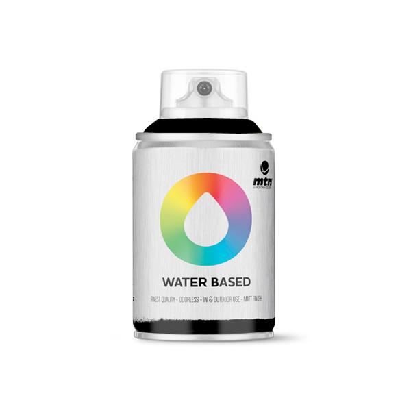 MTN Spain Water Based Spray Paints 100ML - Carbon Black