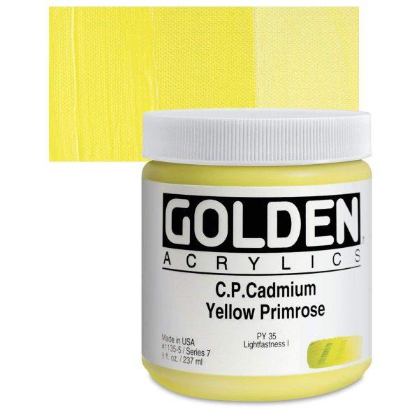 Golden Heavy Body Acrylic Paints 236ML C.P. Cadmium Yellow Primrose