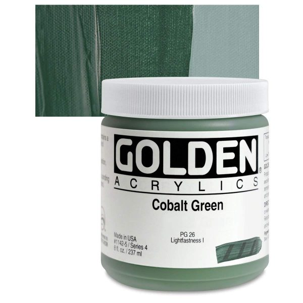 Golden Heavy Body Acrylic Paints 236ML Cobalt Green