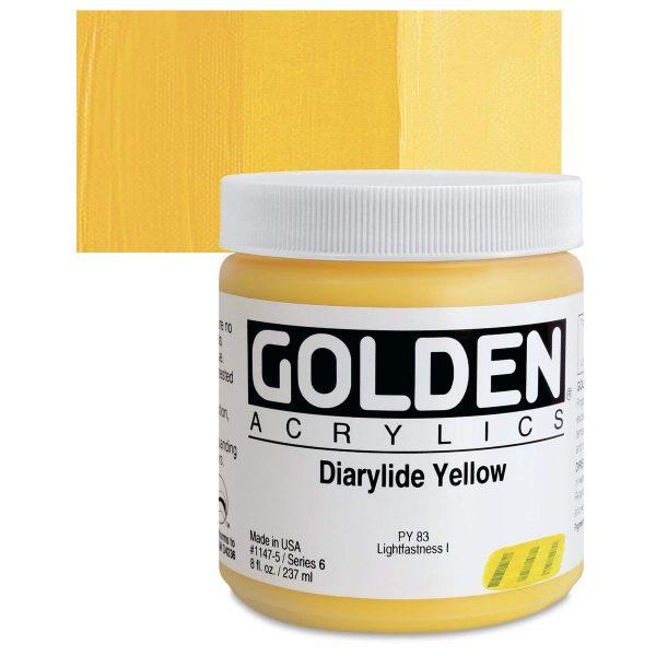 Golden Heavy Body Acrylic Paints 236ML Dairylide Yellow