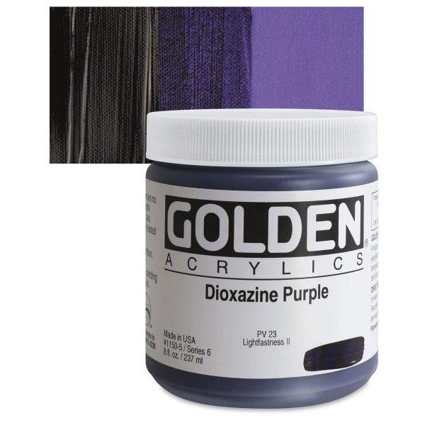 Golden Heavy Body Acrylic Paints 236ML Dioxazine Purple