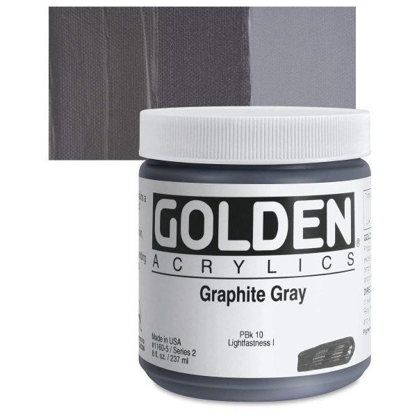 Golden Heavy Body Acrylic Paints 236ML Graphite Gray