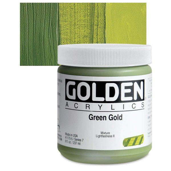 Golden Heavy Body Acrylic Paints 236ML Green Gold