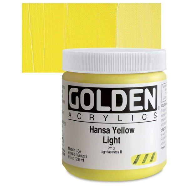 Golden Heavy Body Acrylic Paints 236ML Hansa Yellow Light