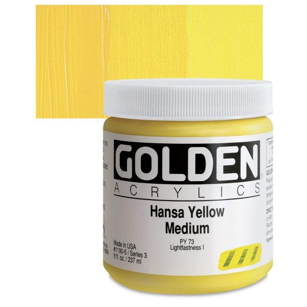 Golden Heavy Body Acrylic Paints 236ML Hansa Yellow Medium