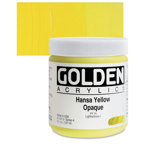 Golden Heavy Body Acrylic Paints 236ML Hansa Yellow Opaque