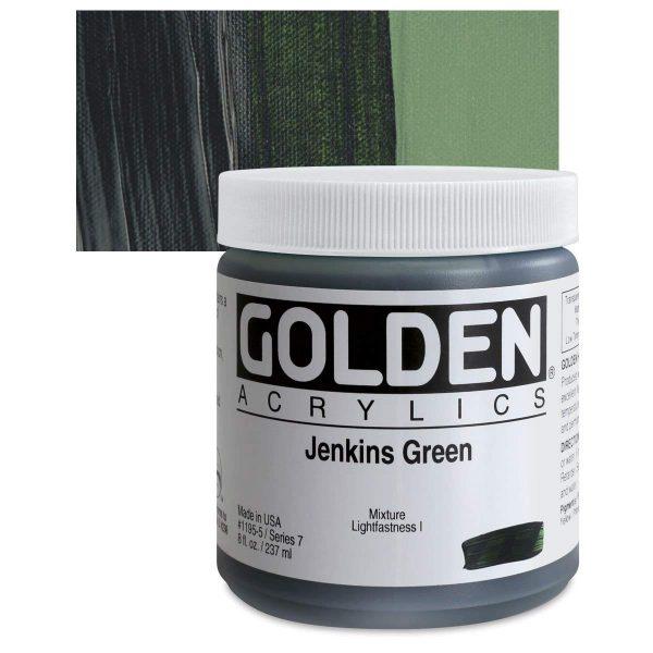Golden Heavy Body Acrylic Paints 236ML Jenkins Green