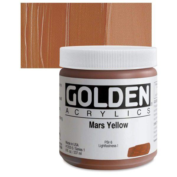 Golden Heavy Body Acrylic Paints 236ML Mars Yellow