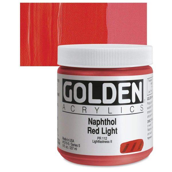 Golden Heavy Body Acrylic Paints 236ML Naphthol Red Light