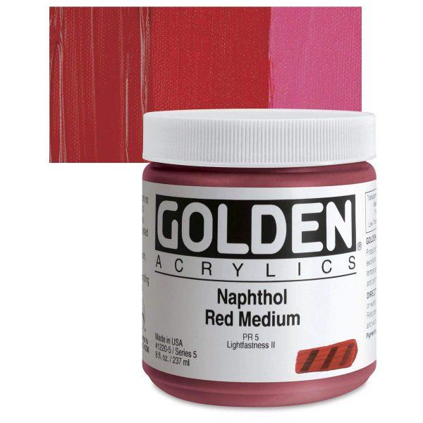 Golden Heavy Body Acrylic Paints 236ML Naphthol Red Medium