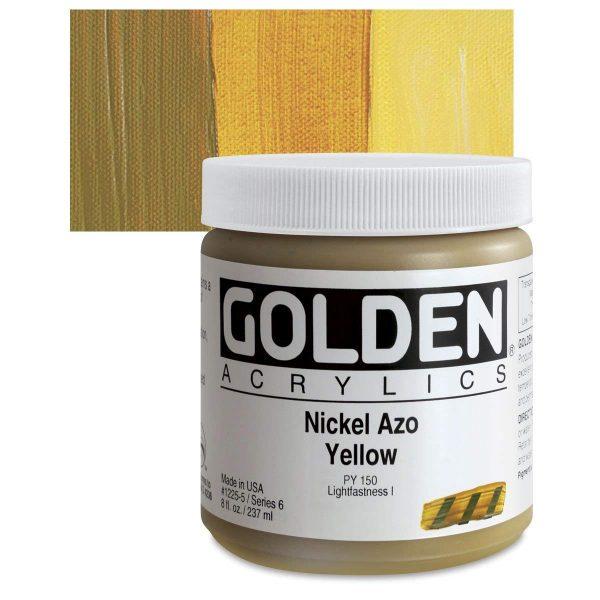 Golden Heavy Body Acrylic Paints 236ML Nickel Azo Yellow