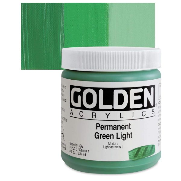 Golden Heavy Body Acrylic Paints 236ML Permanent Green Light