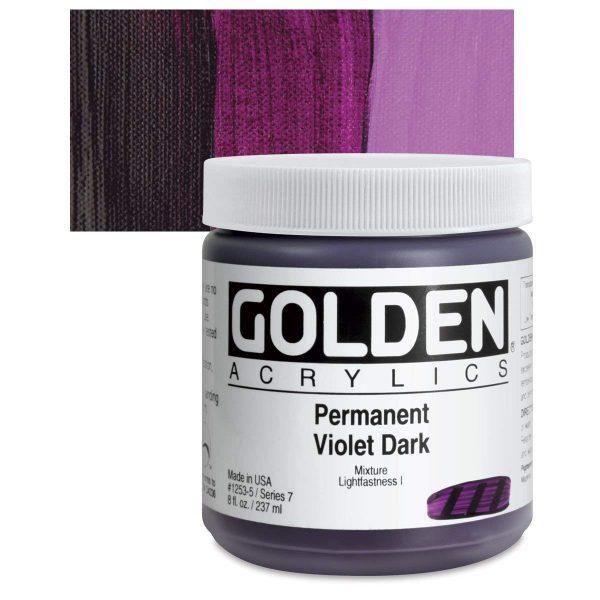 Golden Heavy Body Acrylic Paints 236ML Permanent Violet Dark