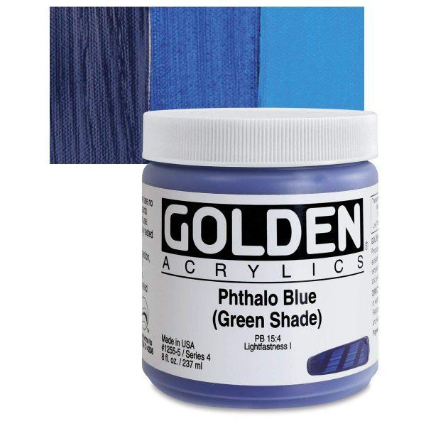 Golden Heavy Body Acrylic Paints 236ML Phthalo Blue Green Shade