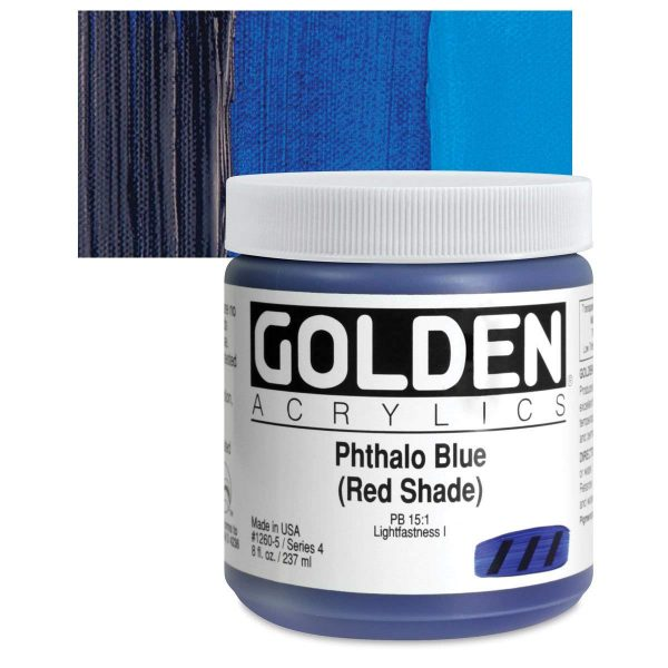 Golden Heavy Body Acrylic Paints 236ML Phthalo Blue Red Shade