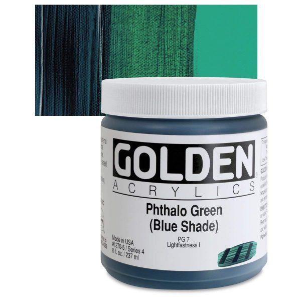 Golden Heavy Body Acrylic Paints 236ML Phthalo Green Blue Shade