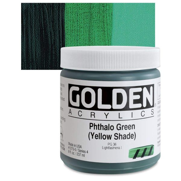 Golden Heavy Body Acrylic Paints 236ML Phthalo Green Yellow Shade