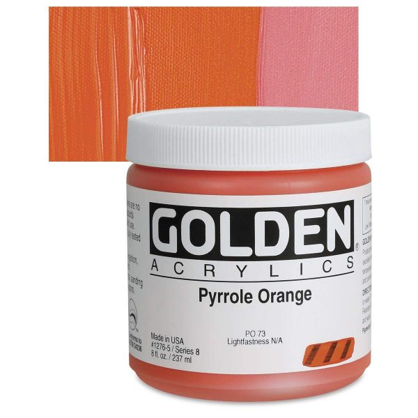 Golden Heavy Body Acrylic Paints 236ML Pyrolle Orange