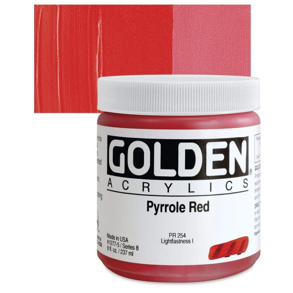 Golden Heavy Body Acrylic Paints 236ML Pyrolle Red