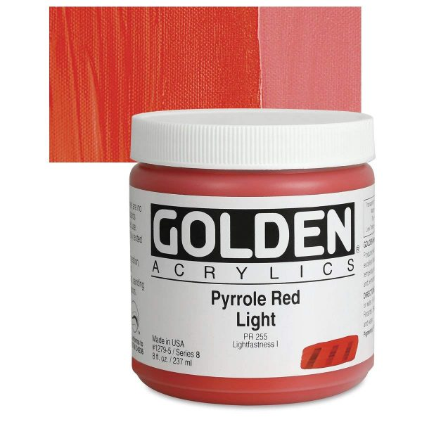 Golden Heavy Body Acrylic Paints 236ML Pyrolle Red Light