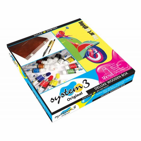 Daler-Rowney AOG System 3 Deluxe Wooden Box Set