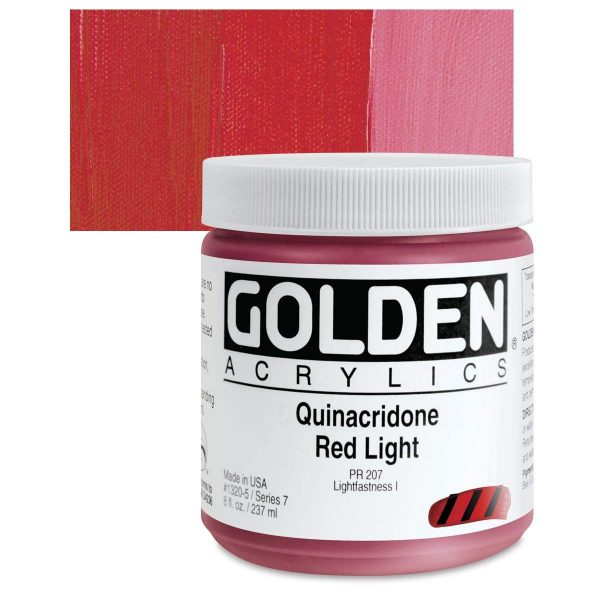 Golden Heavy Body Acrylic Paints 236ML Quinacridone Red Light