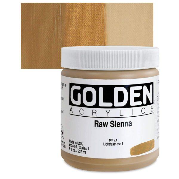 Golden Heavy Body Acrylic Paints 236ML Raw Sienna