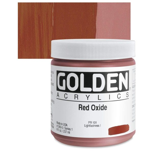 Golden Heavy Body Acrylic Paints 236ML Red Oxide