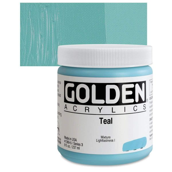 Golden Heavy Body Acrylic Paints 236ML Teal