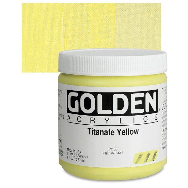 Golden Heavy Body Acrylic Paints 236ML Titanate Yellow