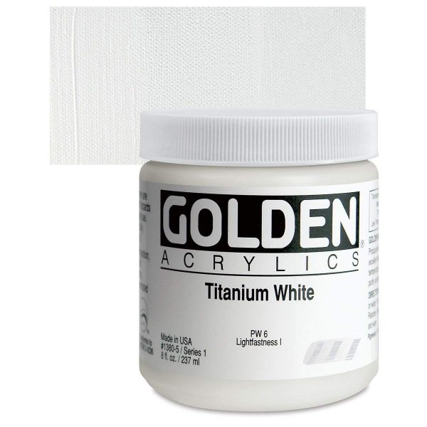 Golden Heavy Body Acrylic Paints 236ML Titanium White