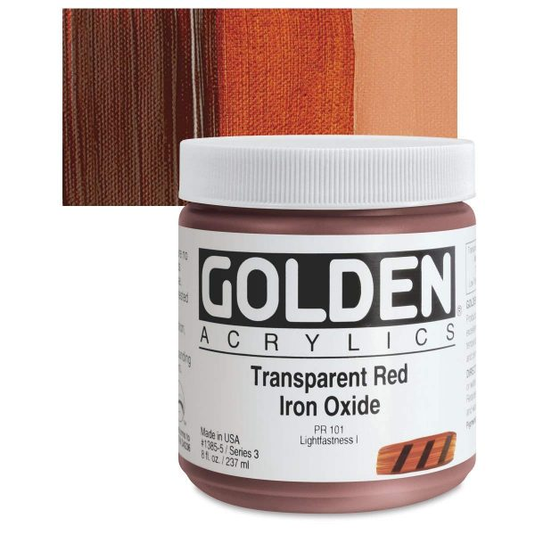 Golden Heavy Body Acrylic Paints 236ML Transparent Red Iron Oxide