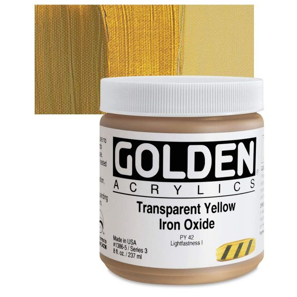 Golden Heavy Body Acrylic Paints 236ML Transparent Yellow Iron Oxide