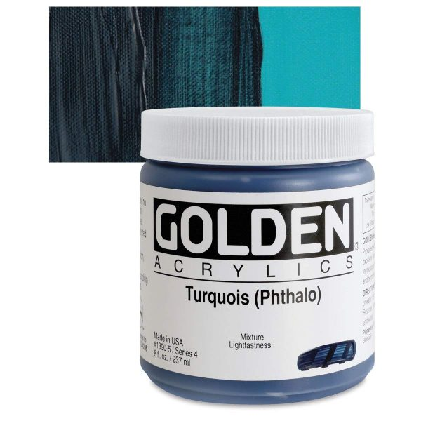 Golden Heavy Body Acrylic Paints 236ML Turquois (Phthalo)