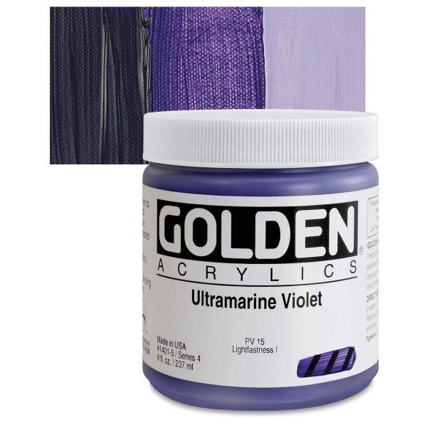 Golden Heavy Body Acrylic Paints 236ML Ultramarine Violet