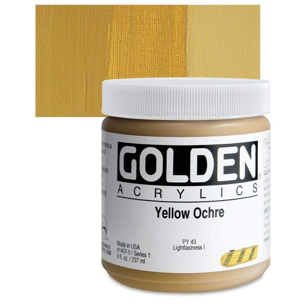 Golden Heavy Body Acrylic Paints 236ML Yellow Ochre