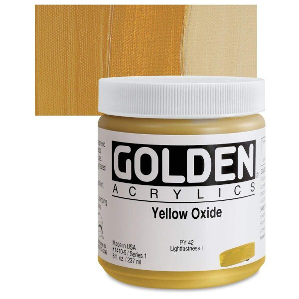Golden Heavy Body Acrylic Paints 236ML Yellow Oxide