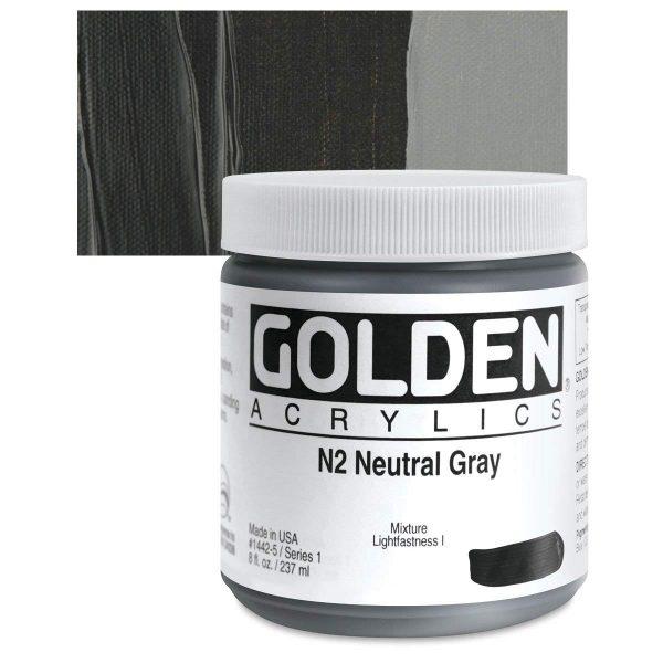 Golden Heavy Body Acrylic Paints 236ML Neutral Gray N2