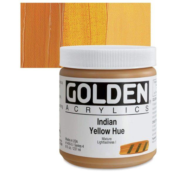Golden Heavy Body Acrylic Paints 236ML Indian Yellow Hue