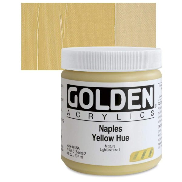 Golden Heavy Body Acrylic Paints 236ML Naples Yellow Hue