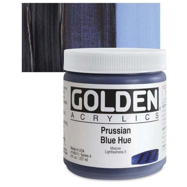 Golden Heavy Body Acrylic Paints 236ML Prussian Blue Hue