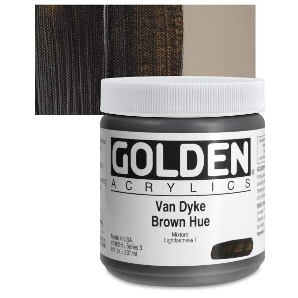 Golden Heavy Body Acrylic Paints 236ML VanDyke Brown Hue